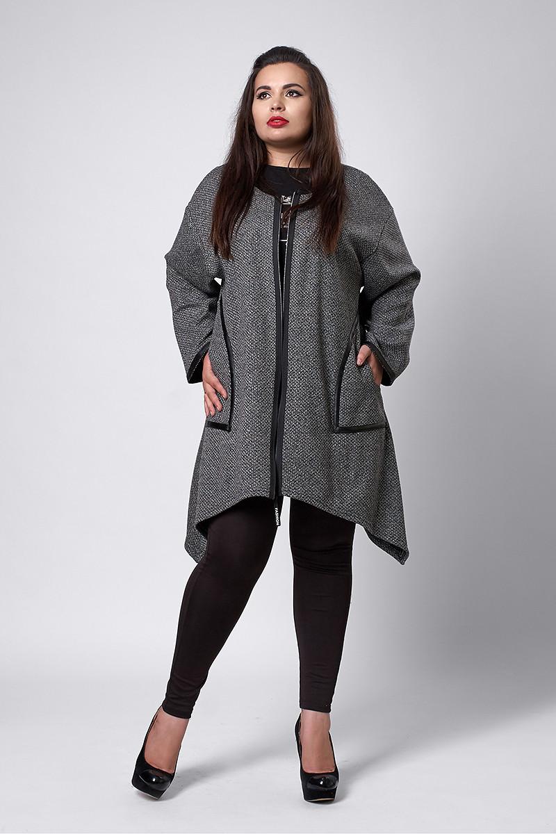 Кардиган мод №289-2, размеры 56-60 серый