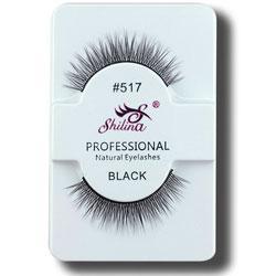 SA Ресницы цельные Shilina Professional Natural Eyelashes Black 517 разные скрещ d-8-11мм
