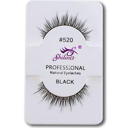 SA Ресницы цельные Shilina Professional Natural Eyelashes Black 520 разные скрещ d-6-11мм