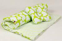 Летний комплект в детскую коляску MAMYSIA Яркий микки 073 салатовый одеяло 65 х 75 см подушка 22 х 26 см
