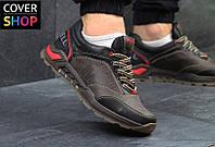 Мужские кроссовки Merrell, черно - коричневые, материал - натуральная кожа, подошва - резина