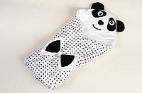 Летний конверт - одеяло на выписку BabySoon Панда 80 х 85 см (001)