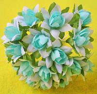 Лилии из ткани на стебле, 20 шт
