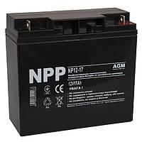Батарея для ИБП 12В 17Ач NPP NP12-17