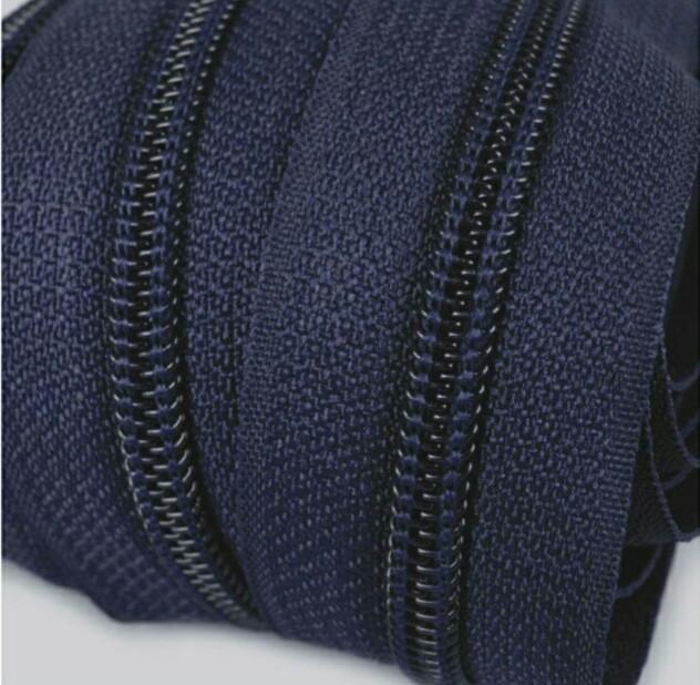 Молния спиральная №6 рулонная S-058(226,318,792) синий чернильный (рул 200м) ZIP