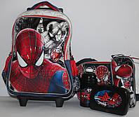 Подарочный Набор Чемодан-рюкзак+сумка+пенал+Бутылочка для воды+ланч бокс Паук 0478DSCN