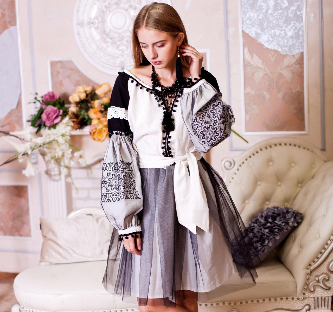 Вишите плаття Чорна фея 2 (машинна вишивка 846fe4d853a9f