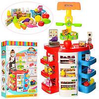 Игровой набор Магазин супермаркет 922-05. Касса с прилавком, кюветами и полочками. Свет, звук.