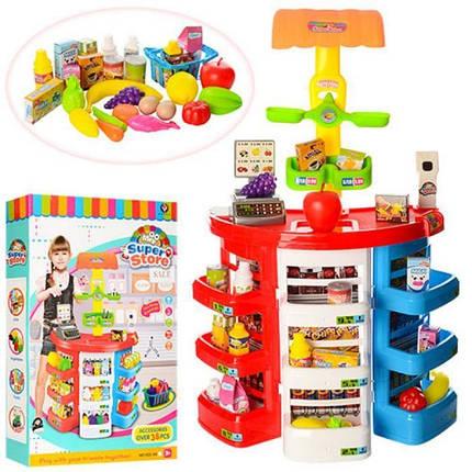 Игровой набор Магазин супермаркет 922-05. Касса с прилавком, кюветами и полочками. Свет, звук., фото 2