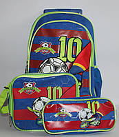 Набор Чемодан-рюкзак+сумка+пенал Футбол 0470 DSCN