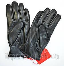Мужские кожаные перчатки на махре, фото 2