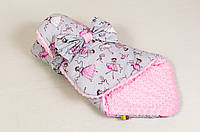 Детский конверт зимний BabySoon Балеринка 80 х 85 см (059) розовый