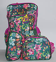 Набор Чемодан-рюкзак+сумка+пенал Бабочки и Цветы 0487 DSCN