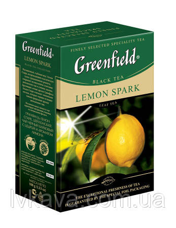 Чай черный Lemon Spark  Greenfield, 100 гр