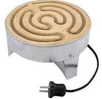 Электроплита дачная (чёрная спираль)1.5кВт со шнуром