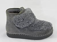 Ботинки женские зимние NADI BELLA_ТС8622-1_Gray  серый замш