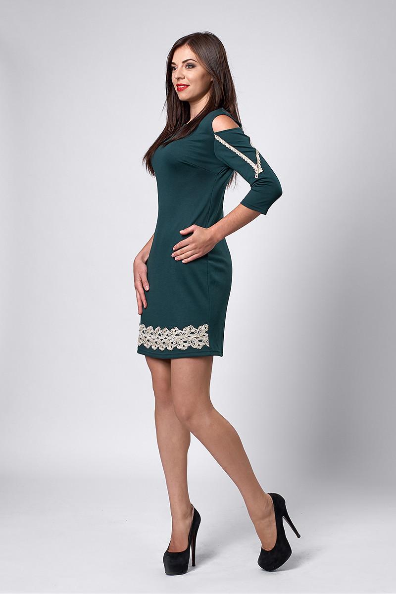 Платье мод №295-2, размеры 46 бутылка