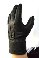 Мужские кожаные перчатки на натуральной овчинке, фото 3