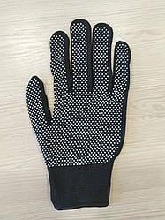 Перчатки х/б с ПВХ точкой черные