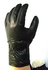 Мужские кожаные перчатки на натуральной овчинке , фото 3