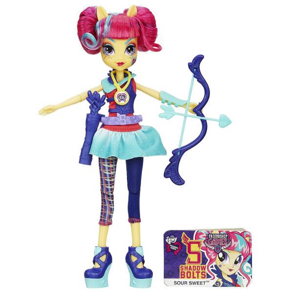 My little pony Девочки Эквестрии Соур Свит серия стрельба из лука Equestria Girls Archery Sour Sweet Doll