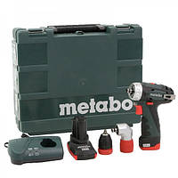 Дрель-шуруповерт Metabo PowerMaxx BS Quick Pro (2 аккумулятора, угловая насадка, кейс)