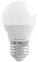 Лампа светодиодная A45 Е27 5W 4100K стандарная- 16 LO