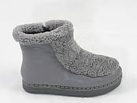 Ботинки женские зимние NADI BELLA_ТС8622-2_Gray  серая кожа