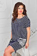 Платье батал  с паетками  417 ФД