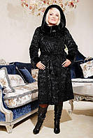 Шуба женская из искусственного меха №130 каракуль