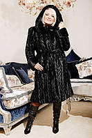Шуба женская из искусственного меха №130 черная