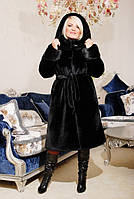Шуба женская из искусственного меха №130 мутон
