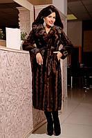Шуба женская искусственная красивая №162 коричневая,магазин шуб