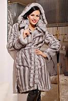 Шуба женская искусственная стильная №172 серая волна,магазин шуб
