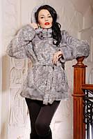 Шуба женская искусственная короткая модная №224 серая