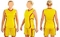 Форма баскетбольная женская Atlanta CO-1101-Y (полиэстер, р-p S-L, желтый)
