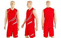 Форма баскетбольная мужская Moment CO-3868-R (полиэстер, р-р M-XL, красный)