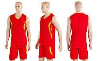 Форма баскетбольная мужская Moment CO-3864-R (полиэстер, р-р M-XL, красный)