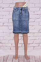 Джинсовая юбка больших размеров  (код 3645)