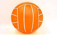 Мяч резиновый Волейбольный BA-3007-OR (резина, вес-120г, р-р 17см (6,5in), оранжевый)
