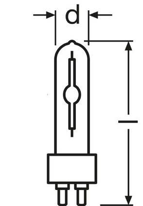 Лампа металлогалогенная OSRAM HCI-T 70W G12, фото 2