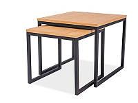 Комплект журнальных столиков Largo DUO Signal дуб натуральный/черный