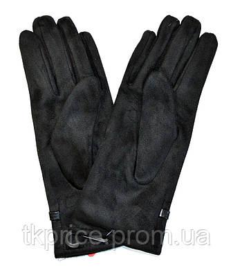 Женские замшевые перчатки  на флисовой подкладке, фото 2