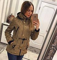 Демисезонная женская куртка стеганка (3 цвета)