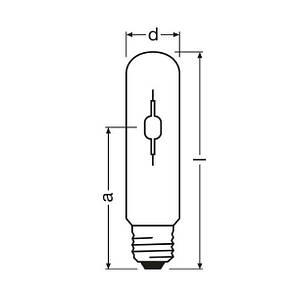Лампа металлогалогенная OSRAM HCI-TT 150/830W E40, фото 2