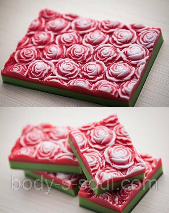 Пластиковая форма для мыла Розы под нарезку