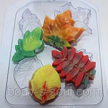 Пластикова форма для мила Листопад