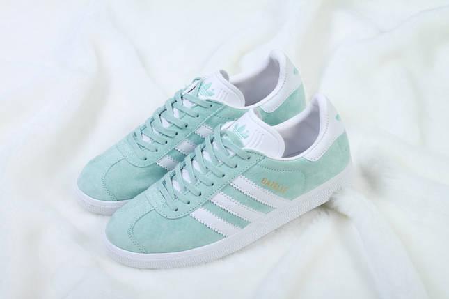Женские кроссовки Adidas Gazelle Ice Mint, фото 2