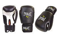 Перчатки боксерские PVC на липучке ЮНИОР MA-0033-BK EVERLAST,  ZELART (р-р 8-12oz, черный)