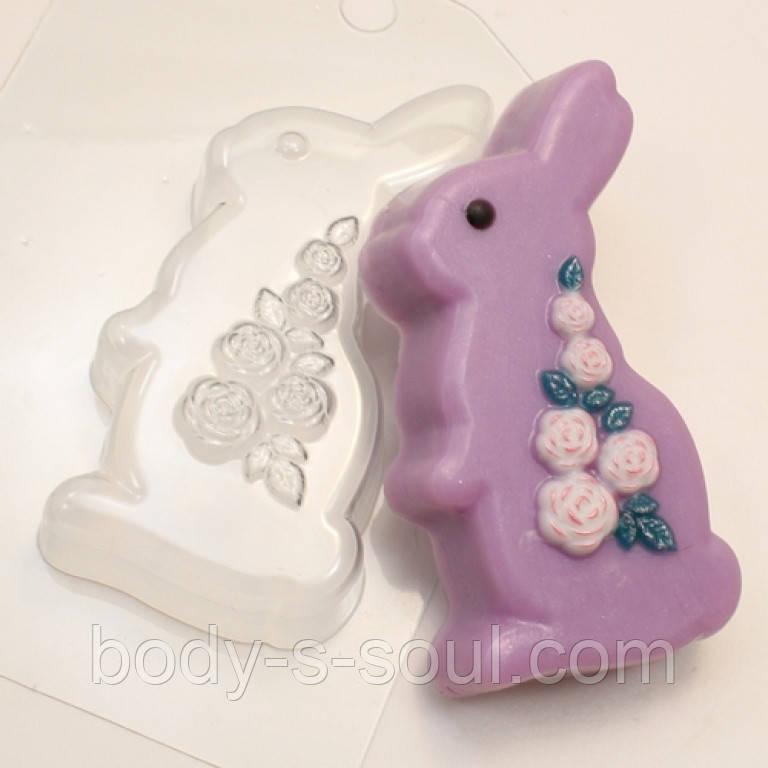 """Пластиковая форма для мыла Кролик/Розы -  """"Body s Soul"""" - оптово-розничный магазин товаров для мыловарения, мыла ручной работы, упаковки в Харькове"""